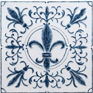 Blue Fleur Wall Decor
