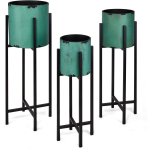 Serrifa Planters with Stands - Set of 3