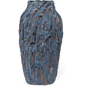 Gulshan Large Bronze Leaf Vase