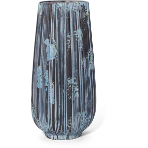 Leocadio Large Blue and Bronze Stripe Vase