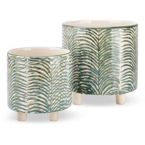 Kaveri Footed Ceramic Planters - Set of 2