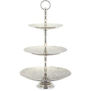 Selene Three Tier Aluminum Decorative Serving Dish