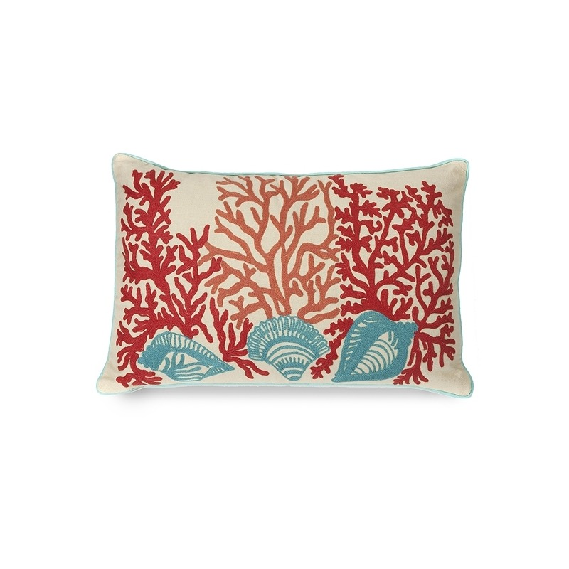 Tyden Shells and Coral Pillow