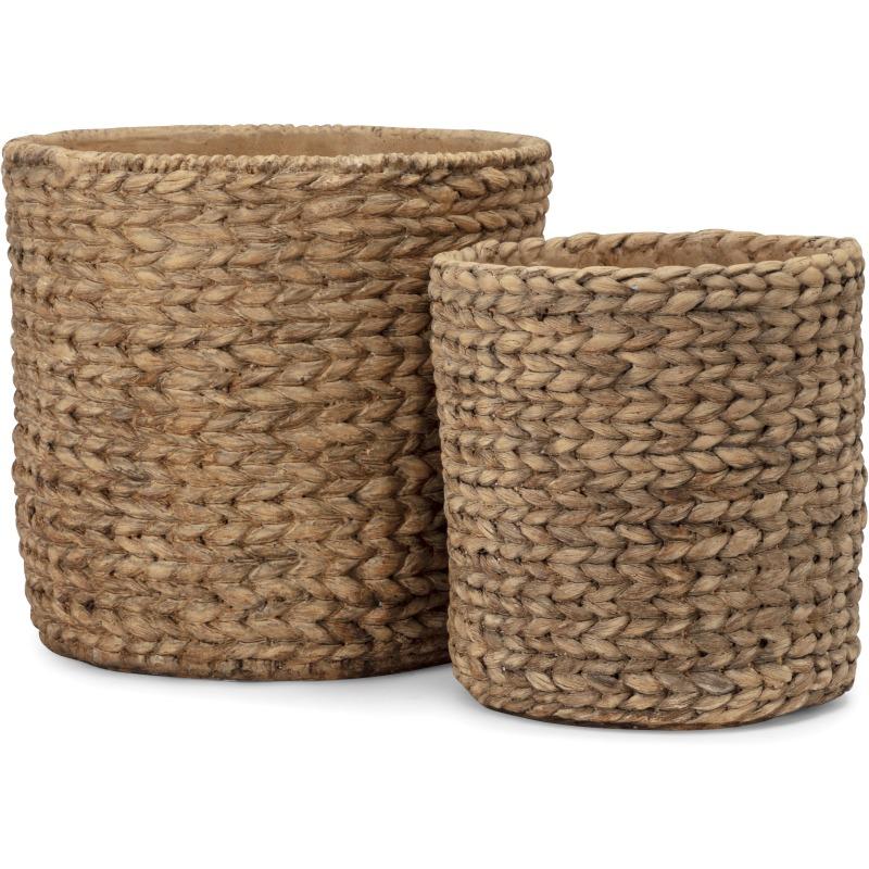 Caraga Cement Basket Pot - Set of 2