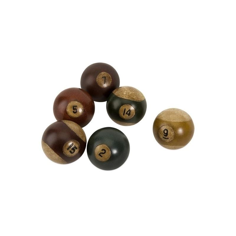 Antique Pool Balls - Set of 6