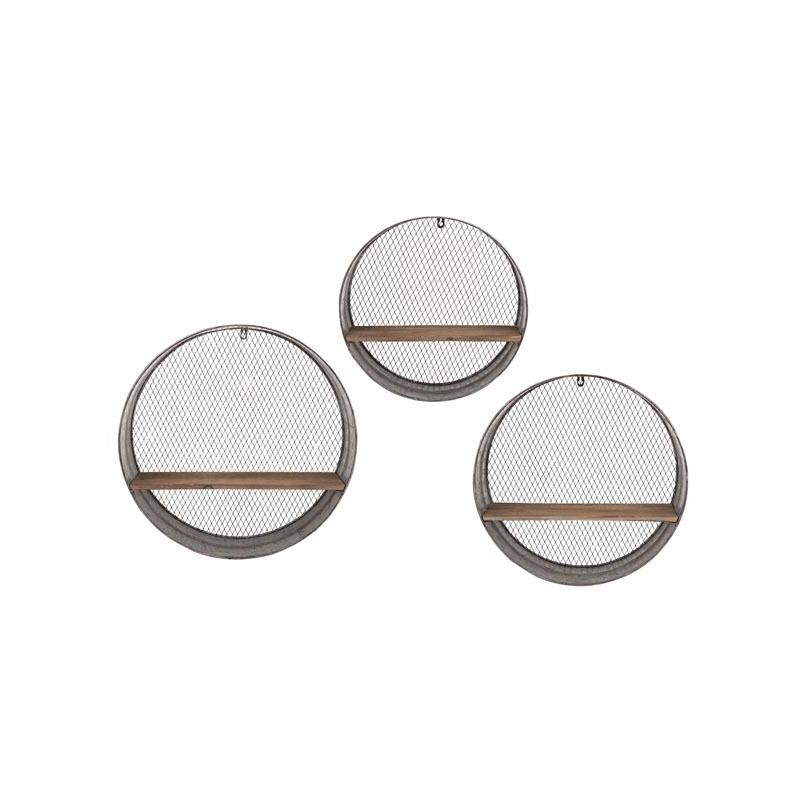 Laurel Round Wall Shelves - Set of 3
