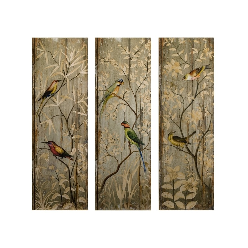 Calima Bird Wall Decor - Set of 3