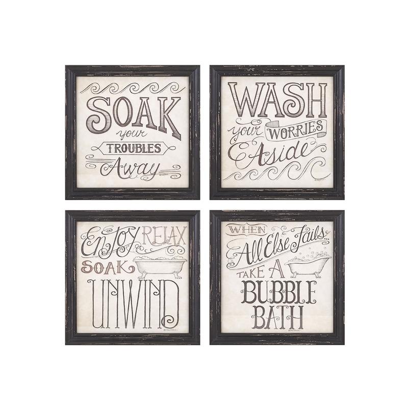 Bath Time Wall Décor - Ast 4