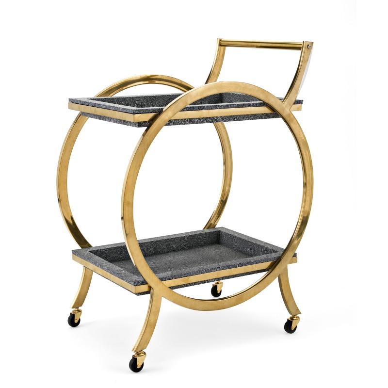 Margo Stainless Steel Bar Cart