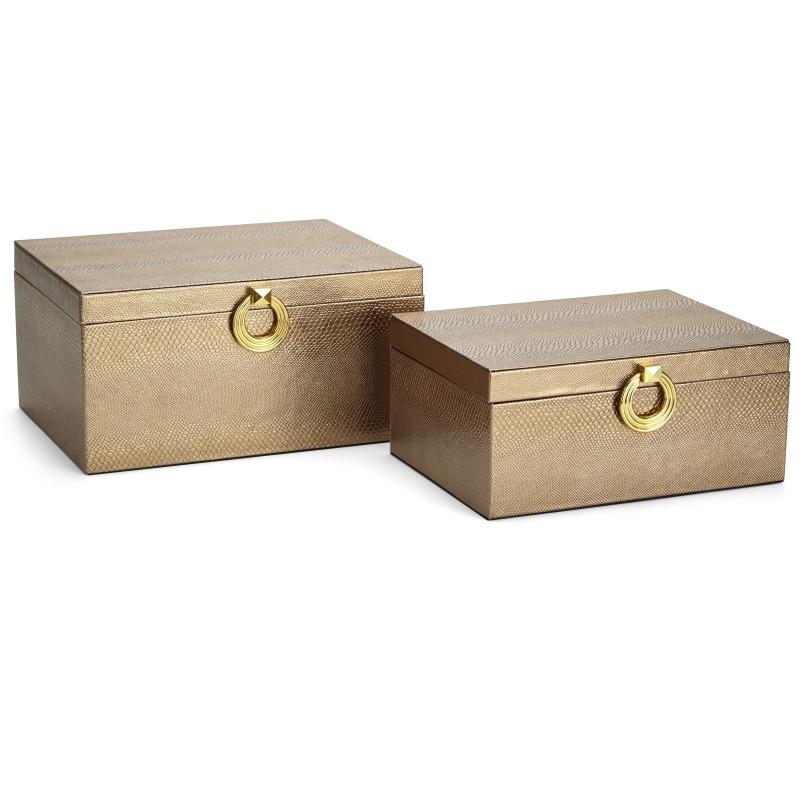 Yasmeen Brown Boxes - Set of 2