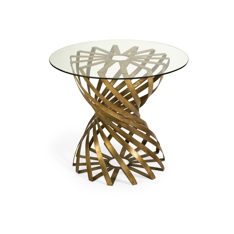 Marceau Accent Table With Glass Top