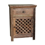 Colton Lattice End Table