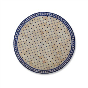 Blue and White Tile Table Top