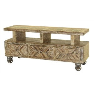 3 DRAWER PLASMA STAND CHEVRON DESIGN