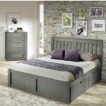 York Grey Full Platform Bed
