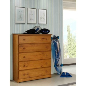 Pecan Tucson 5 Drawer Chest