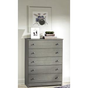 5 Drawer Chest - Gray