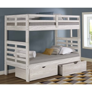 Manchester Bunk Bed with Ladder & Trundle - Birch