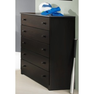 Espresso Five Drawer Chest