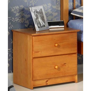 2 Drawer Nightstand - Pecan