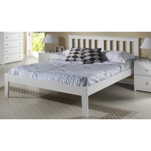 Milan Twin White Platform Bed