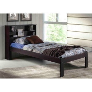 Del Ray Espresso Full  Bookcase Platform Bed