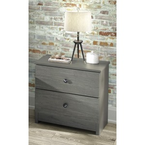 2 Drawer Nightstand - Gray