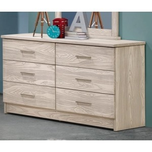 Birch 6 Drawer Double Dresser