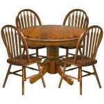 Classic Oak Burnished Rustic Dining Room Plain Arrow Back Side