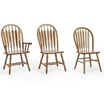 Classic Oak Chestnut Dining Room Detail Arrow Arm Chair
