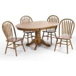 Classic Oak Chestnut Dining Room Plain Arrow Back Side dining chair