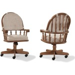 Classic Oak Chestnut Dining Room Tilt/Swivel Chair (w/Castors)