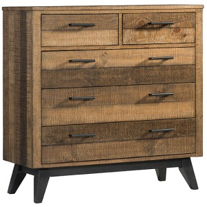 Urban Rustic Media Chest with 5 Drawers