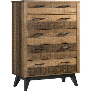 Urban Rustic Standard Chest with 6 Drawers