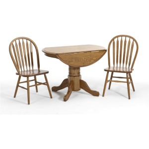 Classic Oak Solid Oak Drop Leaf Table