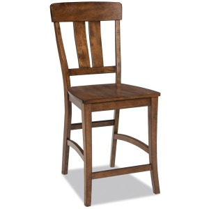 District Splat Back Barstool w/Wood Seat