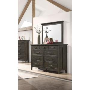 Hawthorne Landscape Mirror with 9 Drawer Dresser