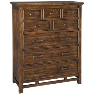 Wolf Creek 6 Drawer Chest w/Media Drawer
