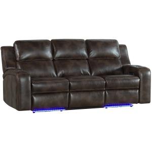 Silhouette Dual-Pwr Recliner Sofa w/Drop