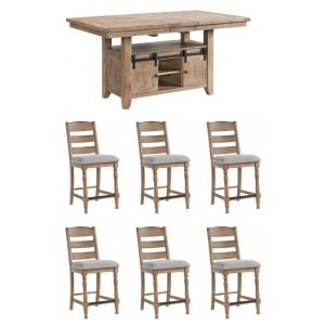 Highland 7 PC Counter Height Dining Set