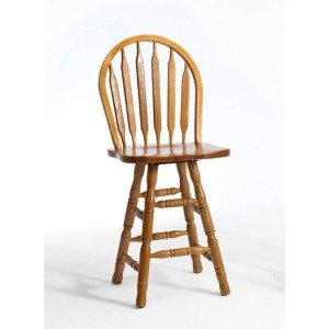 "Classic Oak Chestnut Dining Room 30"" Plain Arrow Barstool"
