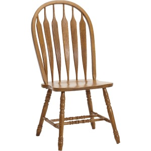 Classic Oak Chestnut Dining Room Detail Arrow Side Chair