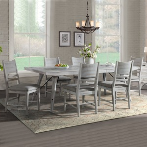 Modern Rustic 7 PC Dining Set
