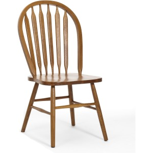 Classic Oak Chestnut Plain Arrow Back Side Chair