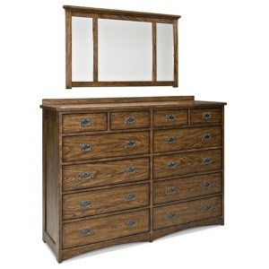 Oak Park 12 Drawer Dresser & Mirror