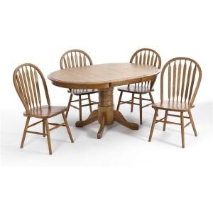 Classic Oak 42x60 Solid Oak Pedestal Table
