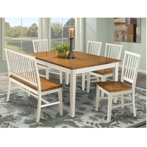 Arlington Dining Room Furniture Lattice Back Bench