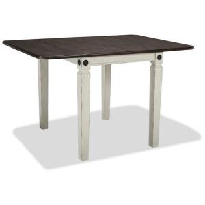 Glennwood Drop Leaf Table - White & Charcoal