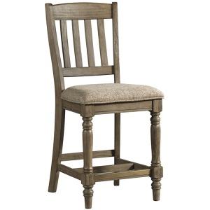 Balboa Park Slat Back Counter Stool with Cushion Seat