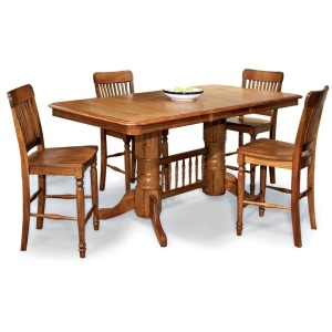 Classic Oak Burnished Rustic Dining Room 24 Arrow Back Barstool w/Swivel